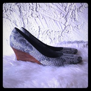 Size 8.5 Cole Haan Lena Snakeskin Wedge